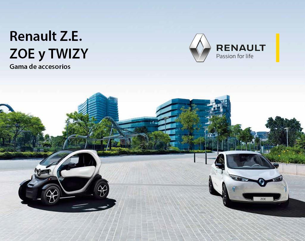 Gama de Accesorios Renault ZOE y TWIZY