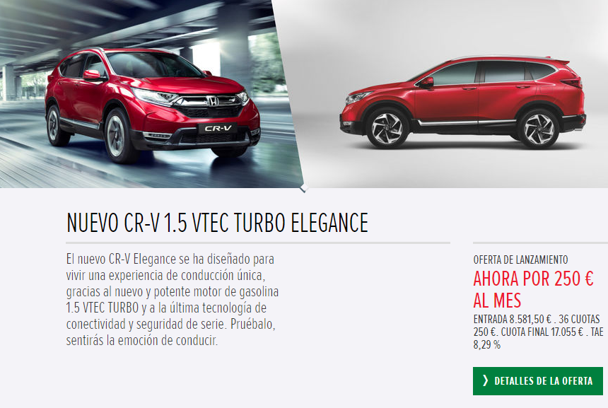 HONDA CR-V  1.5 VTEC TURBO ELEGANCE