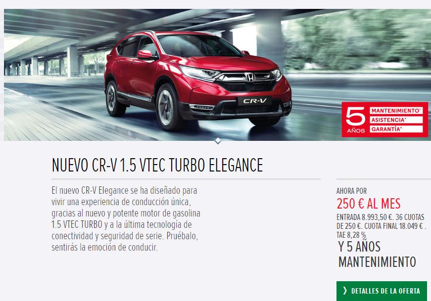 HONDA CR-V  1.5 VTEC TURBO ELEGANCE